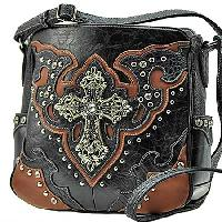 SKP--345-BLACK -  WESTERN CROSS HANDBAGS