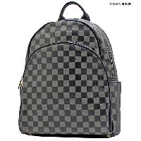 T-1209-PEWTER - DESIGNER INSPIRED BACKPACK STYLE BAGS