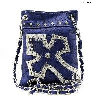 TM-930-BLUE-NV - WHOLESALE RHINESTONE CRYSTAL CELLPHONE CASES/POUCHES