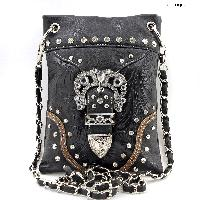 BKLE-W25-2030-BLACK - WHOLESALE RHINESTONE CRYSTAL CELLPHONE CASES/POUCHES