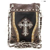 43-LCR-2030-BLACK - WHOLESALE RHINESTONE CRYSTAL CELLPHONE CASES/POUCHES
