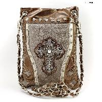 43-LCR-2030-PEWTER - WHOLESALE RHINESTONE CRYSTAL CELLPHONE CASES/POUCHES
