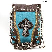 43-LCR-2030-TURQ - WHOLESALE RHINESTONE CRYSTAL CELLPHONE CASES/POUCHES